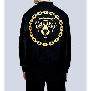 ミシカ(MISHKA)のLONG Death Adder Chain Varsity Jacket  L(スタジャン)