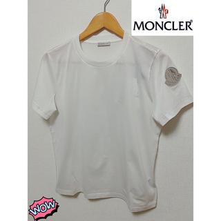 モンクレール(MONCLER)の[新品 Sサイズ] MONCLER 半袖 シルバーロゴパッチTシャツ(Tシャツ(半袖/袖なし))