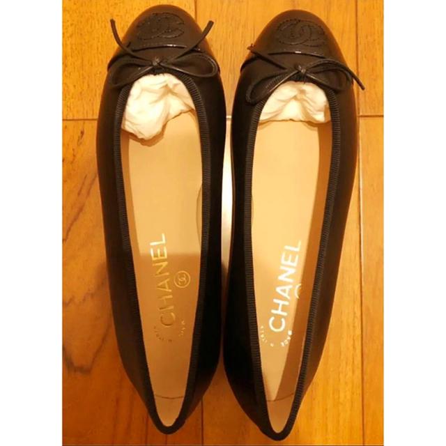 CHANEL(シャネル)のシャネル バレリーナ   ブラック  35.5 レディースの靴/シューズ(バレエシューズ)の商品写真