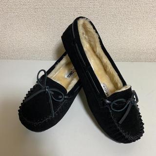 Minnetonka - 新品 ★ 24cm US-7 ミネトンカ キャリー ファー モカシン ブラック