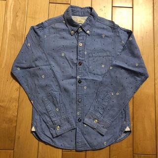 ikka - ikka☆ブルーのシャツ 140