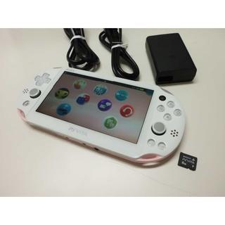 PlayStation Vita - PSVITA PCH-2000 Light Pink/Whiteと8GBメモカ