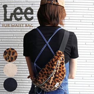 Lee - Lee ボディーバッグ レオパード柄 ボア素材 ウエストポーチ