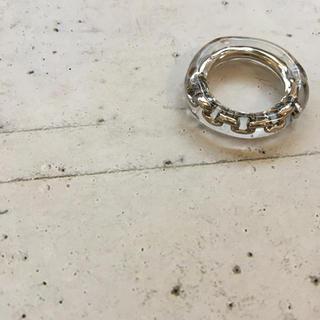 シルバー×クリア チェーンリング 約10号(リング(指輪))