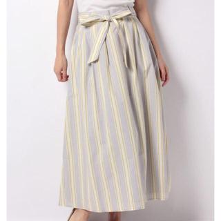 テチチ(Techichi)のテチチ ストライプロングスカート ウエストリボン(ロングスカート)