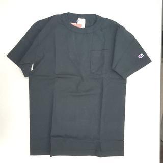 Champion - Champion(チャンピオン)USA製ポケット付きTシャツ;ブラックMサイズ