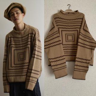 SUNSEA - NEON SIGN 16A/W blanket knit キャメル 2