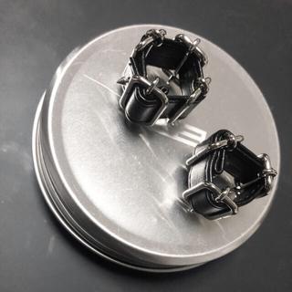バレンシアガ(Balenciaga)のLOINARMIS 20SS Leather Belt Ring 4buckle(リング(指輪))