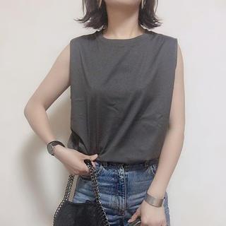ユニクロ(UNIQLO)のユニクロ マーセライズコットンT グレー XL(Tシャツ(半袖/袖なし))