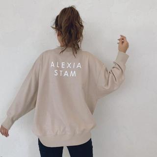 アリシアスタン(ALEXIA STAM)のBack Separated Logo Sweatshirt アリシアスタン (トレーナー/スウェット)