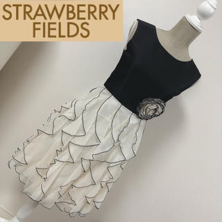 ストロベリーフィールズ(STRAWBERRY-FIELDS)のストロベリーフィールズ フォーマルワンピース ドレス モノトーン(ミディアムドレス)