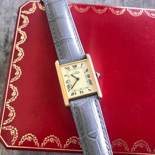 Cartier - 美品✨カルティエ Cartier アクアリーノ マストタンク ピンク 腕時計