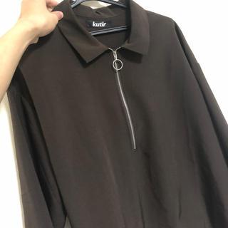 RAGEBLUE - kutir ブラウン ジップシャツ