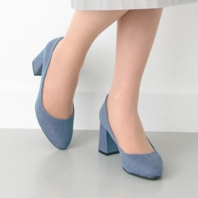 URBAN RESEARCH(アーバンリサーチ)の新品 未使用 ロデスコ デニムパンプス レディースの靴/シューズ(ハイヒール/パンプス)の商品写真