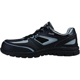 ミドリアンゼン(ミドリ安全)の新品 XEBEC ジーベック 安全靴 26cm ブラック 軽量セーフティシューズ(スニーカー)