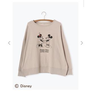 サマンサモスモス(SM2)の【Disney】美品ミッキー&ミニー/プリントカットソー(キャラクターグッズ)