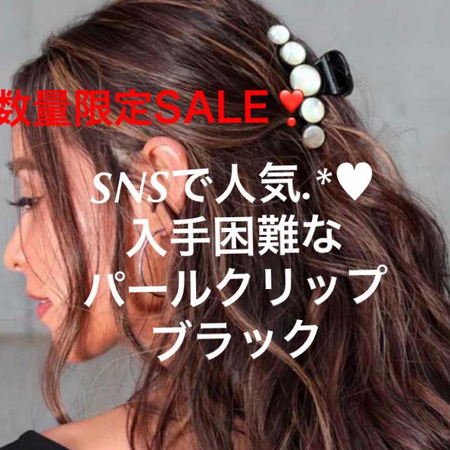 eimy istoire(エイミーイストワール)の超人気商品 売切必至 パールクリップ 人気 ヘアクリップ ブラック 黒 送込 レディースのヘアアクセサリー(バレッタ/ヘアクリップ)の商品写真