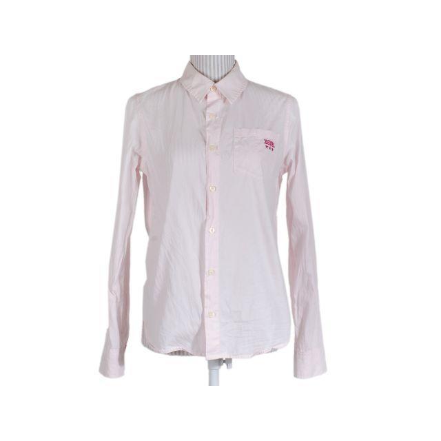 X-girl(エックスガール)のエックスガール 長袖シャツ ロゴ刺繍 ピンク X-GIRL 無地 星 スター レディースのトップス(シャツ/ブラウス(長袖/七分))の商品写真