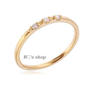 ビューティアンドユースユナイテッドアローズ(BEAUTY&YOUTH UNITED ARROWS)の極美品♡K18 3ダイヤ ピンキーリング BEAUTY&YOUTH スナイデル(リング(指輪))