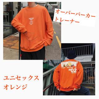リー(Lee)の【新品*即納】BICパーカー トレーナー オレンジ ユニセックス(パーカー)