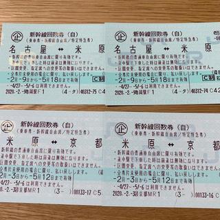 ジェイアール(JR)の名古屋⇆京都 新幹線 自由席 往復(鉄道乗車券)