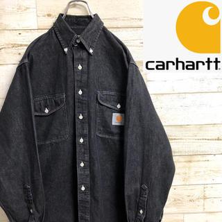 カーハート(carhartt)のじょうまる様専用*カーハート*長袖ブラックデニムシャツ*Mサイズ*(シャツ)