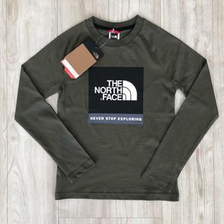 THE NORTH FACE - 【海外限定】TNF ザ  ノースフェイス  ボックスロゴ ロンT 160cm