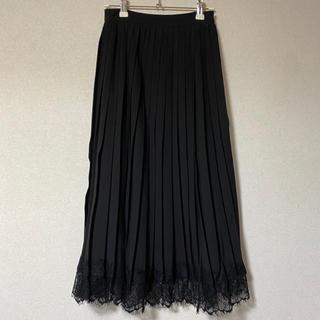 ティティアンドコー(titty&co)のtitty&co プリーツ裾レーススカート(ロングスカート)