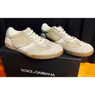 ドルチェアンドガッバーナ(DOLCE&GABBANA)の美品ドルチェ&ガッバーナD&Gスニーカー6シューズ靴ダメージ加工25春夏レザー(スニーカー)