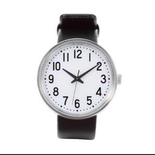 ムジルシリョウヒン(MUJI (無印良品))の無印良品 公園の時計 大 黒(腕時計(アナログ))