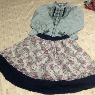 アクシーズファム(axes femme)のアクシーズファム ブラウスとリバーシブルスカートのセット(ミニスカート)