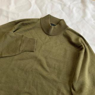 Lochie - vintage 深緑 モスグリーン 昭和レトロ メンズライク上品ニット