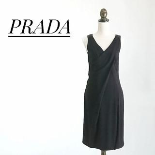 プラダ(PRADA)のPRADA プラダ ワンピース ブラック(ロングワンピース/マキシワンピース)