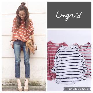Ungrid - Ungrid**カラーボーダールーズL/S tee