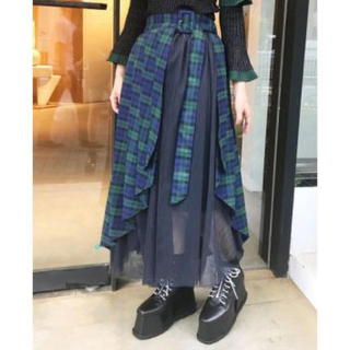 PAMEO POSE - Tulle Combi Wrap Skirt