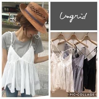 Ungrid - Ungrid**レース刺繍コンビキャミ