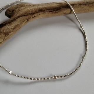 KSN-A1 カレン族シルバー ビーズ ネックレス(ネックレス)