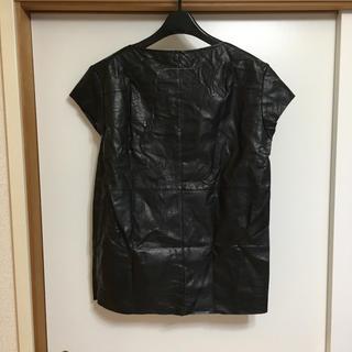 エムエムシックス(MM6)のMM6 フェイグレザーカットソー (カットソー(半袖/袖なし))