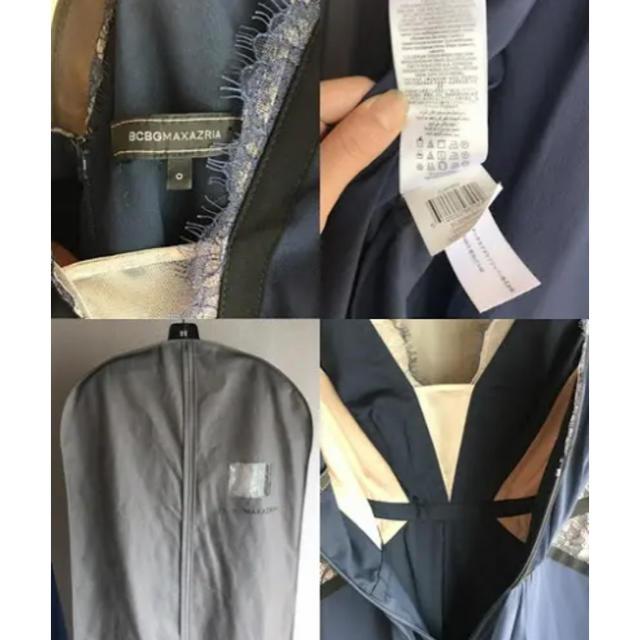 BCBGMAXAZRIA(ビーシービージーマックスアズリア)のBCBGMAXAZRIA ネイビー×ブラック レディースのフォーマル/ドレス(ナイトドレス)の商品写真