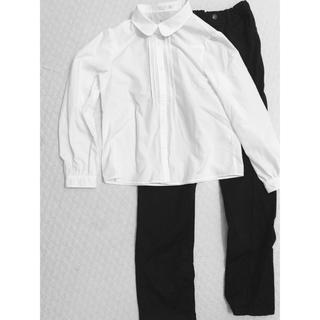GU - gu  白ブラウス&黒パンツ サイズ150