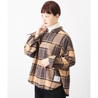 キューブシュガー(CUBE SUGAR)のCube sugar    起毛ガーゼ チェック ビッグシャツ 新品(シャツ/ブラウス(長袖/七分))