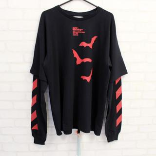 OFF-WHITE - 新品 OFF-WHITE DIAG BATS DOUBLE SLEEVE TEE