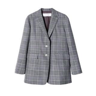 ルシェルブルー(LE CIEL BLEU)のテイラードジャケット チェック 36サイズ(テーラードジャケット)