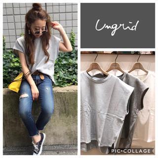 Ungrid - Ungrid**ウォッシュ裏毛トップス