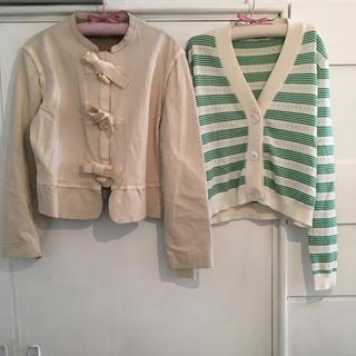 クロエ(Chloe)のChloé ribbon ram leather jacket.(ノーカラージャケット)