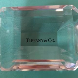 ティファニー(Tiffany & Co.)の☆TIFFANY☆ペーパーウェイト☆エメラルドカット☆超美品☆巨大宝石モチーフ☆(置物)
