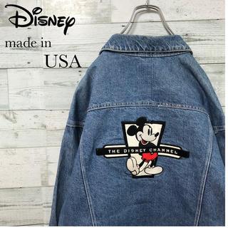 Disney - 【希少】ディズニー☆USA製 刺繍 デカロゴ デニムジャケット
