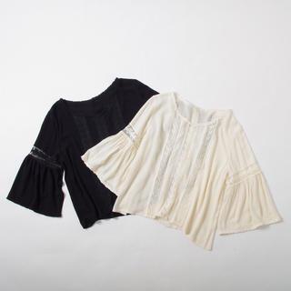 クリスプ(Crisp)のcrisp lace airy blouse(シャツ/ブラウス(長袖/七分))