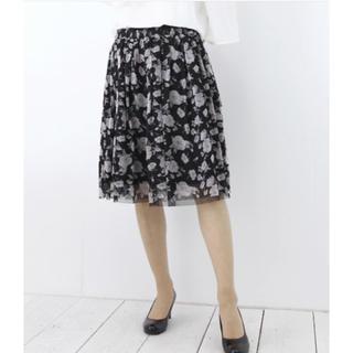 アルピーエス(rps)の花柄チュールスカート r.p.s(ひざ丈スカート)