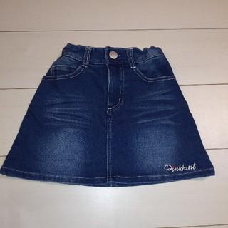 ベビードール(BABYDOLL)のピンクハント デニムスカート 150(スカート)